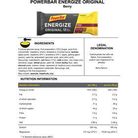 PowerBar Energize Original Riegel Box Berry 25 x 55g